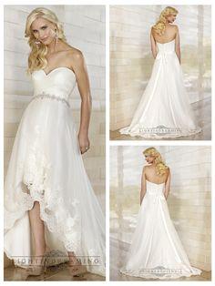 Gorgeous Slim High-low Sweetheart Ruched Bodice Wedding Dresses http://www.ckdress.com/gorgeous-slim-highlow-sweetheart-ruched-bodice-  wedding-dresses-p-489.html  #wedding #dresses #dress #lightindream #lightindreaming #wed #clothing   #gown #weddingdresses #dressesonline #dressonline #bride