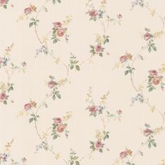 Botanical Wallpaper, Wallpaper Roll, Pattern Wallpaper, Wallpaper Paste, Textured Wallpaper, Green Rose, Pink And Green, Rose Vines, Purple Roses