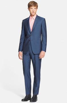 Paul Smith Men's London Byard Trim Fit Wool Mohair Suit | Clothing