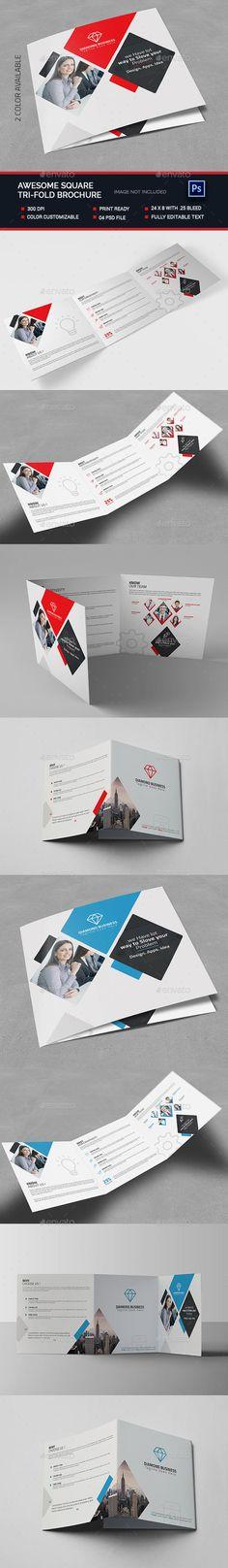 Awesome Square Tri-fold Brochure