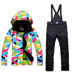 2018 Winter Snow jacket Women Ski Suit Female Snow Jacket And Pants  Windproof Waterproof Colorful Clothes Snowboard sets 488799ece