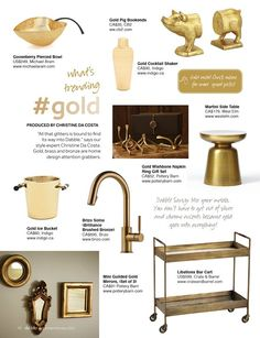 My latest What's Trending column for Dabble Magazine.  All that glitters is Gold!  2012 Dec/Jan issue