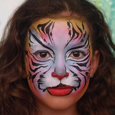 Nurit Pilchin || tiger face painting ideas for kids