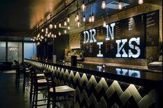 Practice: The Roxy / on Design Work Life in Bewegwijzering / signs Pub Interior, Bar Interior Design, Drink Bar, Bar Drinks, Café Bar, Pub Bar, Bar Restaurant, Restaurant Design, Sport Bar Design