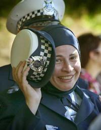 Maha Sukkar in uniform.
