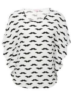 Teen moustache cape top