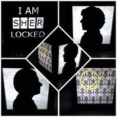 "Sherlock Holmes light box 3"" by BurntPixels on Etsy. $25 sherlocked"