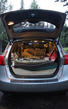 The Privilege of Sleeping in My Car — emily ann hART Minivan Camping, Camping Glamping, Camping Life, Camping Meals, Camping In Car, Casita Camper, Car Camper, Nissan Rouge, Sleep In Car
