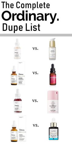 Great Skin Care Tips Can Change Your Life A complete dupe list for Deciem The Ordinary. Save on some of your favourite luxury skincare!A complete dupe list for Deciem The Ordinary. Save on some of your favourite luxury skincare! Beauty Care, Beauty Hacks, Beauty Ideas, K Beauty, Glam Glow, Hair And Beauty, Face Beauty, Skincare Dupes, Best Drugstore Moisturizer