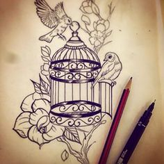 broken cage tattoo - Google Search