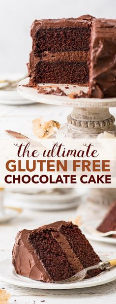 Ultimate Gluten Free Chocolate Cake - With melt-in-the-mouth gluten free spo. The Ultimate Gluten Free Chocolate Cake - With melt-in-the-mouth gluten free spo. - -The Ultimate Gluten Free Chocolate Cake - With melt-in-the-mouth gluten free spo. Dessert Oreo, Dessert Sans Gluten, Gluten Free Sweets, Gluten Free Cakes, Dairy Free Recipes, Gluten Free Deserts Easy, Gluten Free Sponge Cake, Gluten Free Coconut Cake, Appetizer Dessert