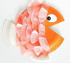 14 Summer Paper Plate Kids Crafts - Cheer and Cherry Paper Plate Crafts For Kids, Summer Crafts For Kids, Crafts For Kids To Make, Paper Crafts, Fish Crafts Kids, Easy Crafts, Easy Diy, Fun Diy, Spring Crafts