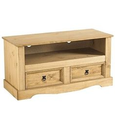 Corona Solid Mexican Pine 2 Drawer Flat Screen TV Unit - http://www.computerlaptoprepairsyork.co.uk/tvs-and-accessories/corona-solid-mexican-pine-2-drawer-flat-screen-tv-unit-2