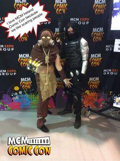 I love MCM Ireland Comic Con because we like scaring people #ComicCon #Ireland #Pixe