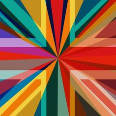 Union Square (Pop Art Abstract British Union Flag) - Square, Limited Editions, 2016 - Big Fat Arts | BFA Gallery | Czar Catstick - 1