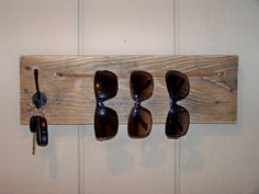 Great idea to store my collection Reclaimed Wood Sunglasses and Keys Holder by RusticWoodOriginals, $35.00
