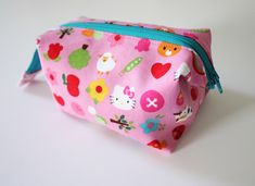 Tutorial: Noodlehead: open wide zippered pouch: DIY tutorial