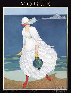 Vogue, 1916. Old Vogue cover / Capa retrô da Vogue.