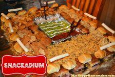 """Snackadium {With Pillsbury!) from """"Mrs. Happy Homemaker"""""""