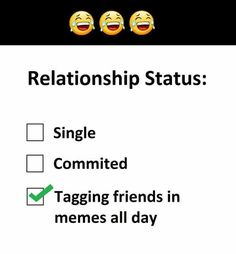 Relationship status #bluechipentertainment #funny #funnypics #Entertainment #entertainmentweekly #Entertainment_Weekly #fun #funfact #funkibaat #funkibaat100 #hilarious #relationship #relationships #relationshipgoals #RelationshipAdvice Entertainment Weekly, Relationship Advice, Relationships, Funny Pictures, Funny Pics, Fun Facts, Hilarious, Memes, Day