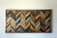 Chevron Wood Wall Art by RusticWarmthDecor on Etsy, $210.00