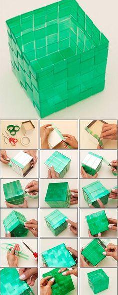 Aprenda a fazer caixa de garrafas Pet- reciclagem