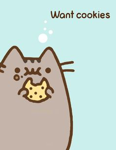 Pusheen - want cookies Cat Wallpaper, Kawaii Wallpaper, Cute Wallpaper Backgrounds, Pusheen Love, Pusheen Cat, Pusheen Stormy, Cute Chibi, Cute Creatures, Cute Characters