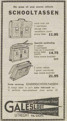De voorbereidingen voor het nieuwe schooljaar vinden plaats: prachtige schooltassen bij Galesloot! UN, 18 augustus 1961, pagina 14
