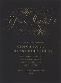 You're Invited by Bernard Maisner. Customize one of hundreds of online birthday party invitations. With RSVP tracking. View more designs on paperlesspost.com