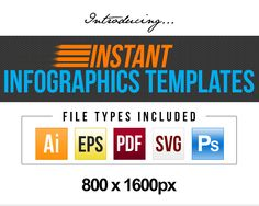 Instant Infographics Templates – TOP 10 Style, 10 Color Variation Each, 100 Templates and Unlimited Design Combination for Viral Content Marketing Traffic Generation