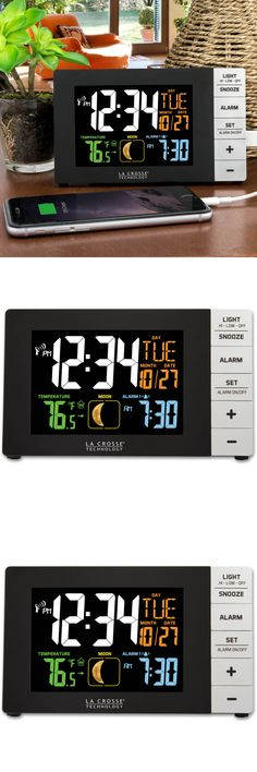 Alarm Clocks 79643: Color Large Led Alarm Clock With Indoor Temperature And Usb Port Date Stylish -> BUY IT NOW ONLY: $41.99 on eBay!