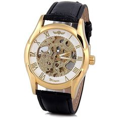 Winner Luxury Water Resist Hollow Mechanical Watch with Analog Round Dial Leather Watchband for Male USD Sell Your Stuff, Stuff To Buy, Things To Sell, Mechanical Watch, Sammy Dress, Watch Bands, Watches For Men, Luxury, Leather