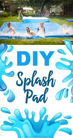 DIY Splash Pad! Keeps the water in for all day fun!