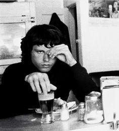 Jim Morrison having a beer for breakfast, 1967 : OldSchoolCelebs