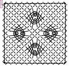 Pour le carton n° 7, Dominique vous propose sur un fond torchon une autre araignée.            Si vous réalisez un ouvrage avec les cartons ...