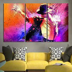 3 Panel Michael Jackson Artwork Wall Art Canvas