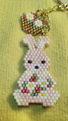 Bunny peyote seed bead charms