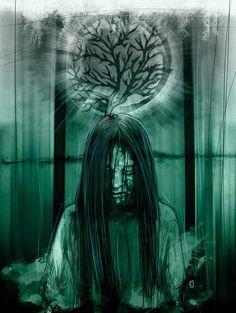 'Seven Days' by Horror Art, Horror Movies, Wilson Art, Forever Brilliant Moissanite, Sci Fi Art, White Gold Rings, Dark Art, Art Images, Scary