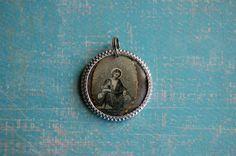 Saint Anne devotional medal. $16.00, via Etsy.