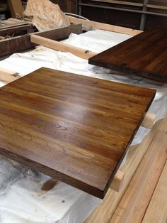 hickory farm table side left reclaimed wood michigan
