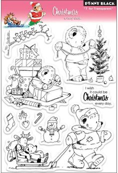 Christmas Every Day - Clear Stamp