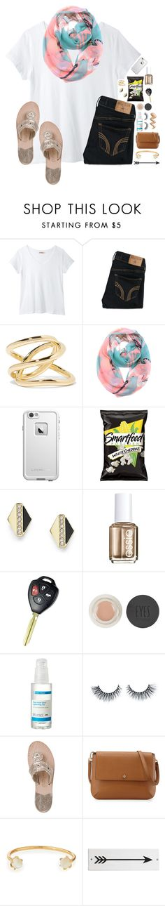 """""""•02-22-16•"""" by lydia-hh ❤ liked on Polyvore featuring Hollister Co., Jennifer Fisher, ModestlyChic Apparel, LifeProof, FOSSIL, Essie, Topshop, Murad, Jack Rogers and Tory Burch"""