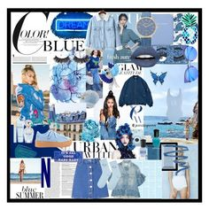 Designer Clothes, Shoes & Bags for Women Aspinal Of London, Deborah Lippmann, Msgm, Fujifilm, Baby Blue, Color Blue, Christian Dior, Polyvore Fashion, Givenchy