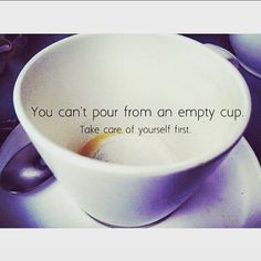 """#WednesdayWellness: Self-care is not selfish. We cannot nurture others from a dry well or """"empty cup."""" If we practice preventative wellness and replenish our emotional reserves BEFORE they hit the empty line, then we can give even more to others from our surplus, from our natural state of strength and abundance."""
