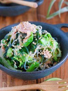 包丁いらず『うま塩だれ de キャベツとわかめの春雨サラダ』 by Yuu | レシピサイト「Nadia | ナディア」プロの料理を無料で検索