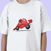 Red race car on a T-Shirt @ #Zazzle http://www.zazzle.com/cardvibes*