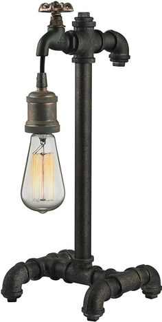 """0-002430>18""""""""h 1-Light Table Lamp Gloss White/Chrome"""