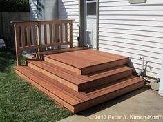 Simple Mangaris Back Yard Patio Deck - Atwater Village, CA