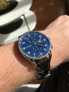 Lux Watches, Pocket Watches, Luxury Watches For Men, Wrist Watches, Iwc Chronograph, Portuguese, Omega, Rolex, Cool Photos