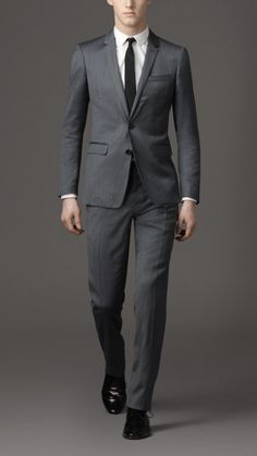 Burberry London men subtle stripe modern fit suit 1
